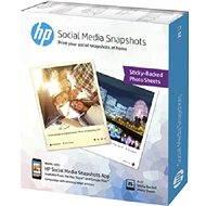 Kivehető, tapadós fotópapír a HP Social Media Snapshotokhoz - Fotópapír