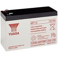 YUASA 12V 7Ah karbantartás mentes ólom akkumulátor NP7-12, faston, 4,7 mm - Tölthető elem