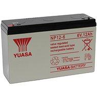 YUASA 6V 12Ah  NP12-6 karbantartás mentes ólom akkumulátor - Tölthető elem