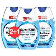 VADEMECUM 2in1 Menthol Fresh 3 × 75 ml - Fogkrém