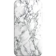 AlzaGuard - iPhone 7/8/SE 2020 - Fehér márvány - Mobiltelefon hátlap