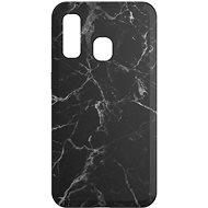 AlzaGuard - Samsung Galaxy A40 - Fekete márvány - Mobiltelefon hátlap