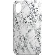 AlzaGuard - Apple iPhone X/XS - Fehér márvány - Telefon hátlap