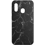 Mobiltelefon hátlap AlzaGuard - Samsung Galaxy A20e - fekete márvány - Kryt na mobil