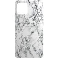 AlzaGuard - Apple iPhone 12 / 12 Pro - fehér márvány - Mobiltelefon hátlap