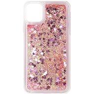 iWill Glitter Liquid Heart Case Apple iPhone 11 készülékhez - Pink - Telefon hátlap