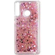 Mobiltelefon hátlap iWill Glitter Liquid Heart Case a Huawei P40 Lite E telefonhoz Pink - Kryt na mobil