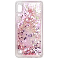iWill Glitter Liquid Heart Case Samsung Galaxy A10 készülékhez - Pink
