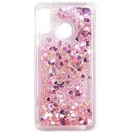 iWill Glitter Liquid Heart Case Samsung Galaxy A20e készülékhez - Pink - Telefon hátlap