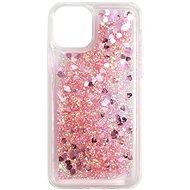 iWill Glitter Liquid Heart Case az Apple iPhone 11 Pro telefonhoz, Pink - Mobiltelefon hátlap