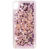 iWill Glitter Liquid Heart Case Xiaomi Redmi 7A készülékhez - Pink
