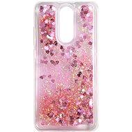 iWill Glitter Liquid Heart Case Xiaomi Redmi 8 készülékhez - Pink - Telefon hátlap