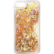 iWill Glitter Liquid Star Case Apple iPhone 7 / 8 / SE (2020) készülékhez - Rose Gold - Telefon hátlap