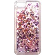 iWill Glitter Liquid Heart Case Apple iPhone 7 / 8 / SE (2020) készülékhez - Pink - Telefon hátlap