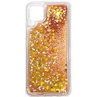 Mobiltelefon hátlap iWill Glitter Liquid Star Case Huawei P40 Lite készülékhez - Rose Gold - Kryt na mobil