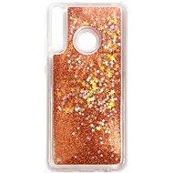 Mobiltelefon hátlap iWill Glitter Liquid Star Case Huawei P40 Lite E készülékhez - Rose Gold - Kryt na mobil