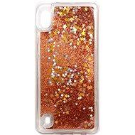 iWill Glitter Liquid Star Case Samsung Galaxy A10 készülékhez - Rose Gold - Telefon hátlap