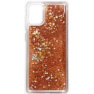 iWill Glitter Liquid Star Case Samsung Galaxy A31 készülékhez - Rose Gold - Mobiltelefon hátlap