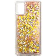 iWill Glitter Liquid Star Case Samsung Galaxy A41 készülékhez - Rose Gold - Telefon hátlap