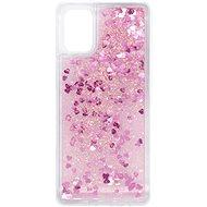 Mobiltelefon hátlap iWill Glitter Liquid Heart Case Samsung Galaxy M31 készülékekhez - Kryt na mobil