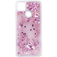 Mobiltelefon hátlap iWill Glitter Liquid Heart Case Xiaomi Redmi 9C készülékhez - Kryt na mobil