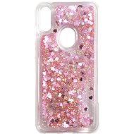 iWill Glitter Liquid Heart Case Honor 8A / Huawei Y6s készülékhez - Pink - Telefon hátlap