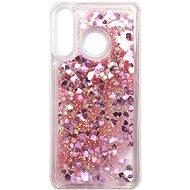 iWill Glitter Liquid Heart Case Huawei P30 Lite készülékhez - Pink - Mobiltelefon hátlap