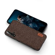 MoFi Fabric Back Cover Honor 20 Pro, barna - Mobiltelefon hátlap
