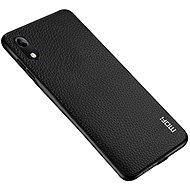 MoFi Litchi PU Leather Case Honor 8A, fekete - Mobiltelefon hátlap