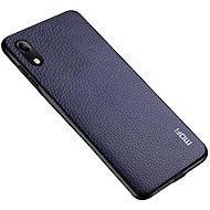 MoFi Litchi PU Leather Case Honor 8A, kék - Mobiltelefon hátlap