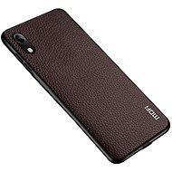 MoFi Litchi PU Leather Case Samsung Galaxy A10, barna - Mobiltelefon hátlap