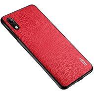 MoFi Litchi PU Leather Case Samsung Galaxy A10, piros - Mobiltelefon hátlap