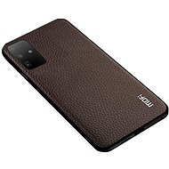 MoFi Litchi PU Leather Case Samsung Galaxy S20 Ultra 5G, barna - Mobiltelefon hátlap