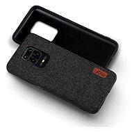 Mobiltelefon hátlap MoFi Fabric Back Cover Xiaomi Redmi Note 9 fekete - Kryt na mobil