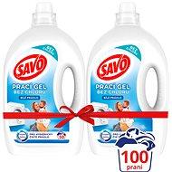 SAVO Fehér ruhákra 2× 2,5 l (100 mosás) - Mosógél