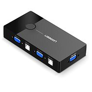 Ugreen 2 In 1 Out VGA + USB-B + USB-A KVM Switch Black - Kapcsoló