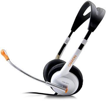 Canyon HS11NA fekete-fehér - Mikrofonos fej- fülhallgató  089fb2dc6c