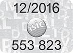 ISIC érvényesítő matrica