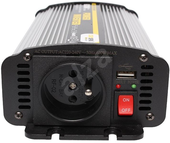 Carspa 24 V/230 V+USB 600 W - 'Feszültség-átalakító