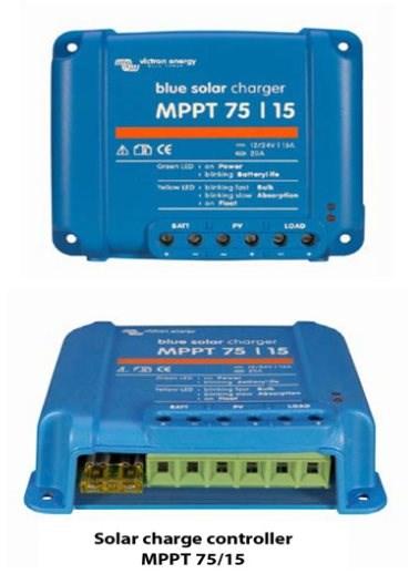 Victron MPPT BlueSolar 75/15 Töltésszabályozó - Napelemes töltő.