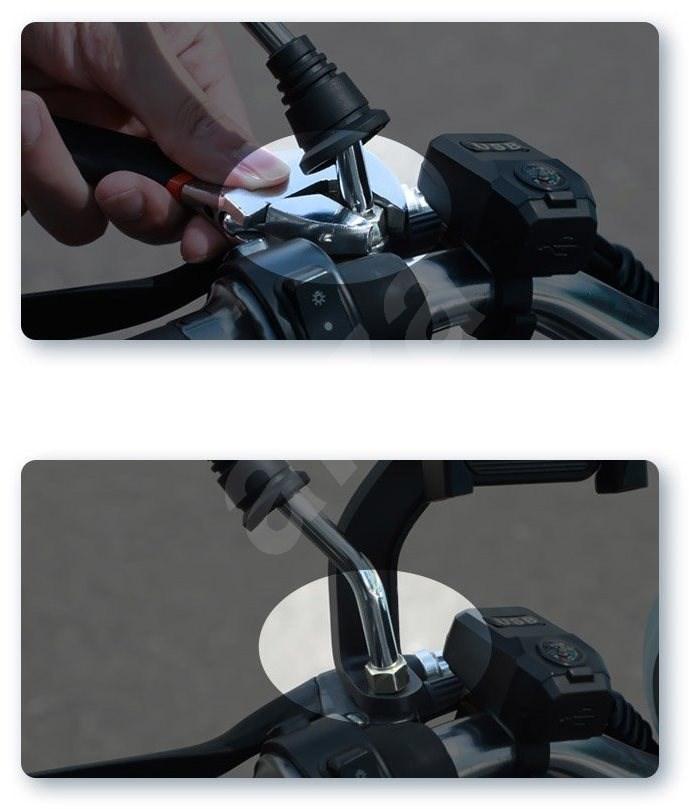 Baseus Knight Motorcycle and Bicycle Holder - ezüst - Telefontartó