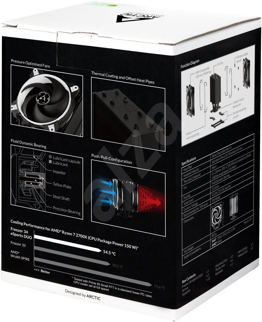 ARCTIC Freezer 34 eSports DUO - fehér - Processzor hűtő.