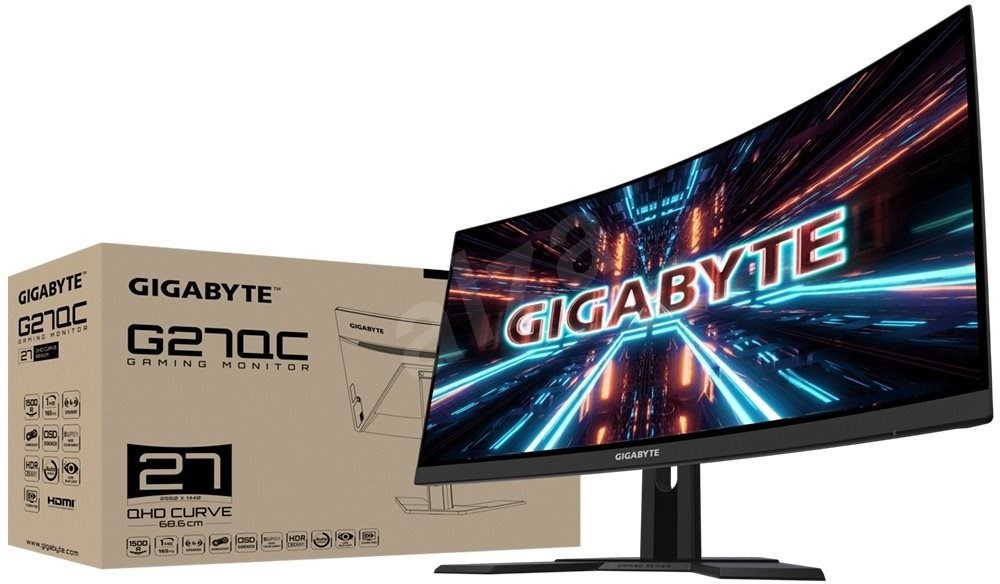 "27""-es GIGABYTE G27QC - LCD LED monitor"