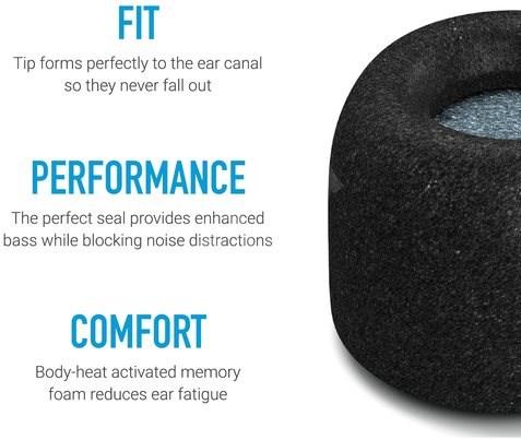 Comply TrueGrip Pro fekete színű - M méretű - Füldugó