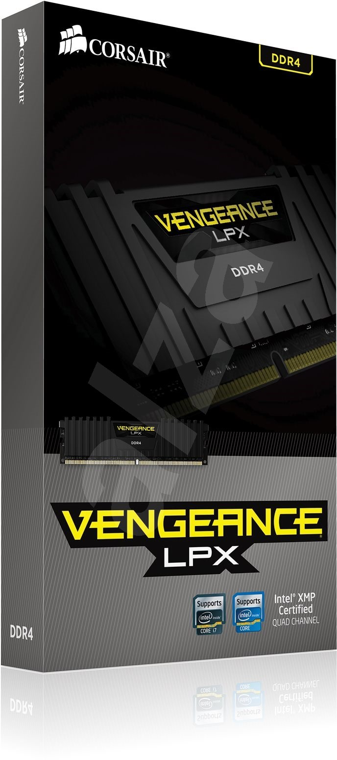 Corsair 32GB KIT DDR4 3000MHz CL15 Vengeance LPX fekete - Rendszermemória