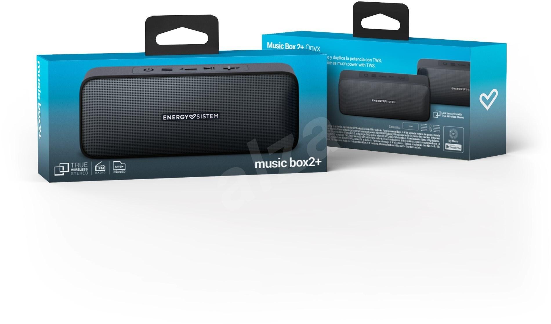 Energy Sistem Music Box 2+ Onyx - Bluetooth hangszóró