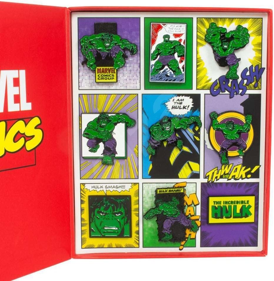 Marvel Hulk - Retro Pin Badge Set - jelvények - Ajándékcsomag