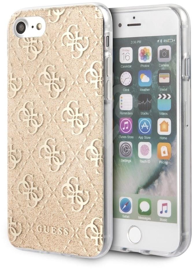 Guess Glitter 4G Solid iPhone 8/SE 2020 készülékhez Gold - Mobiltelefon hátlap