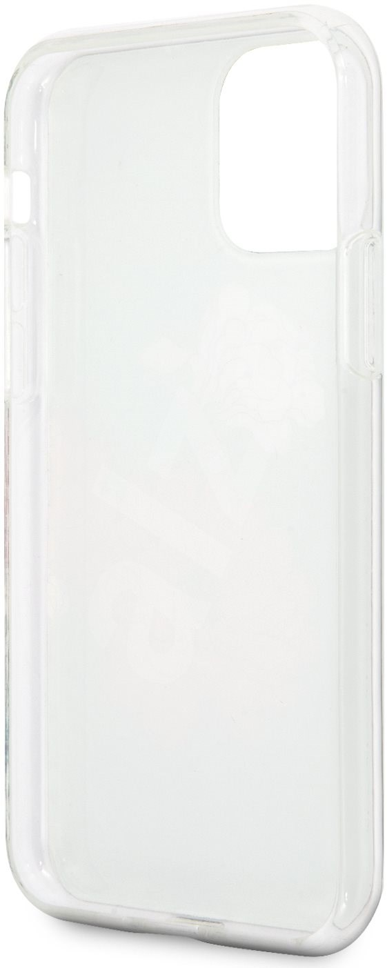 Guess Flower Shiny N.1 iPhone 11 készülékhez Black - Mobiltelefon hátlap