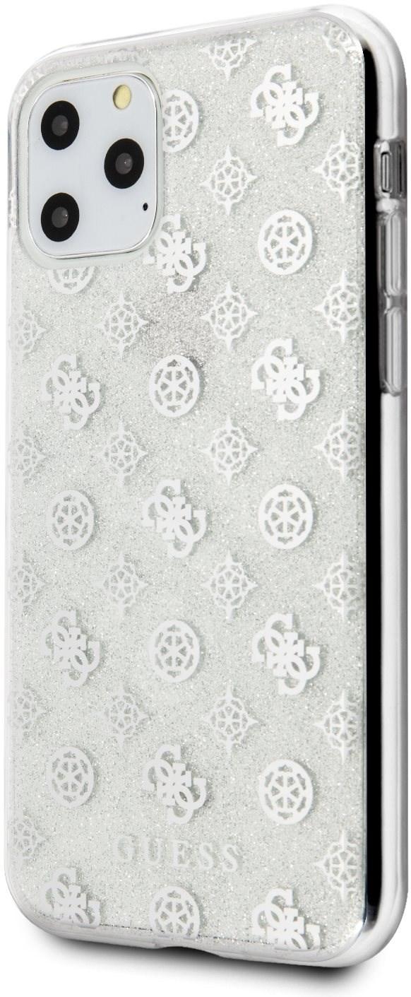 Guess 4G Peony Glitter hátlap tok iPhone 11 Pro készülékhez - ezüst - Mobiltelefon hátlap